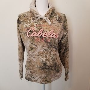 Cabelas Size M Sweater Hoodie Womens Camoflage